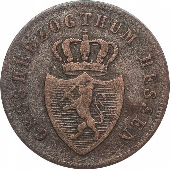 1 Kreuzer Hessen-Darmstadt Großherzog Lufwig II. 1834-1838