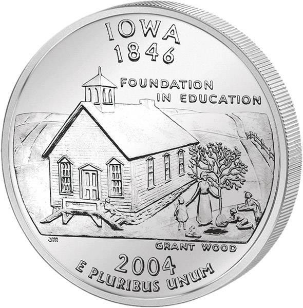 Quarter Dollar USA Iowa 2004