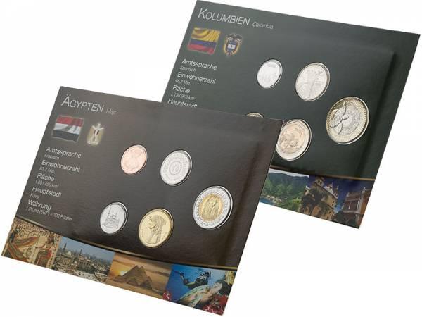 Premium-Kursmünzen-Set Ägypten und Kolumbien