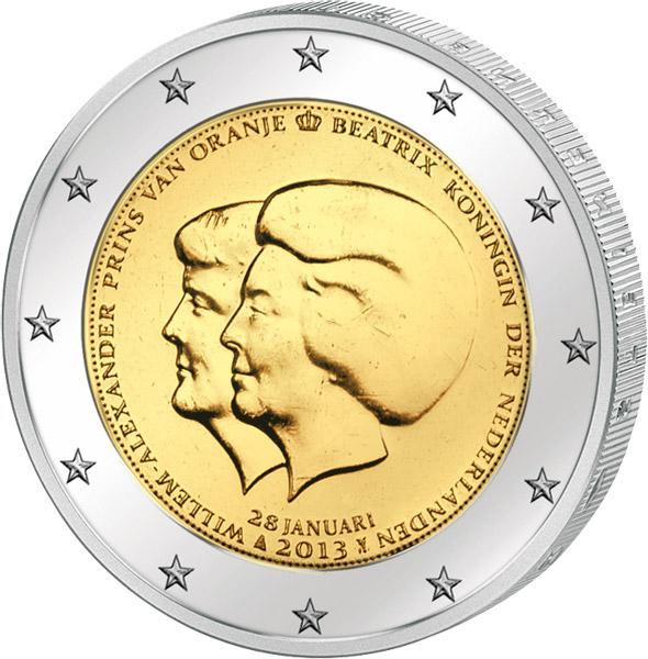 2 Euro Niederlande Thronwechsel 2013 Niederlande 2 Euro