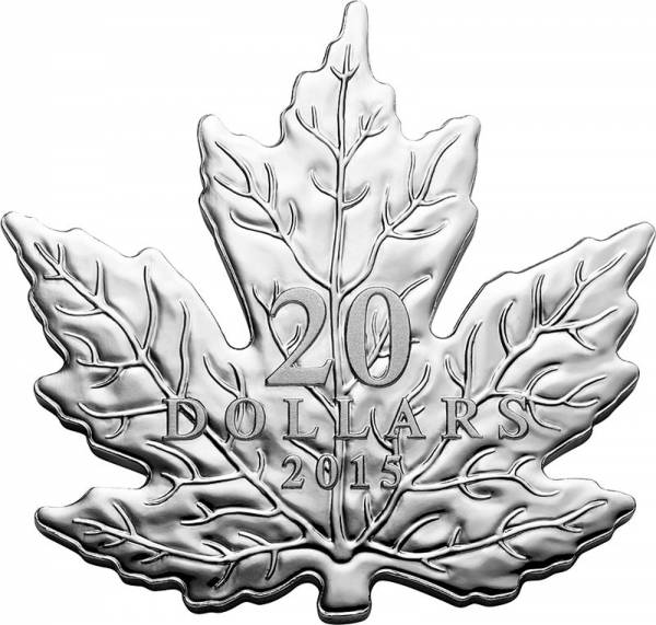 20 Dollars Kanada Maple Leaf Silber-Silhouetten-Münze 2015