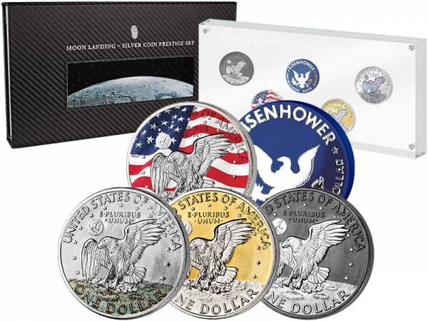 Silver Investment Coin Prestige-Set Mondlandung 2019