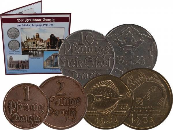 1 - 10 Pfennig Freie Stadt Danzig 1923 - 1937