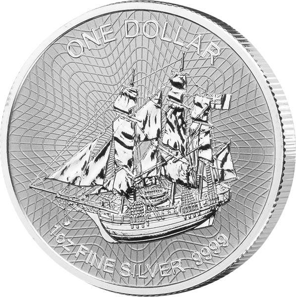 1 Unze Silber Cook-Inseln Bounty 2019
