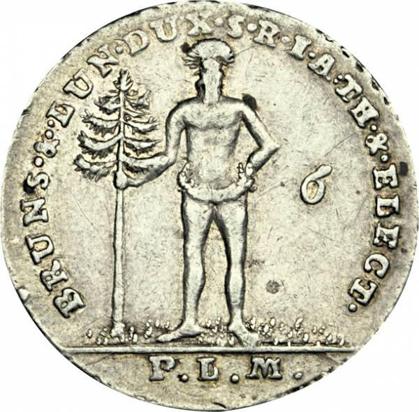 1/6 Taler Braunschweig Calenberg Hannover Kurfürst Georg III. 1762-1804