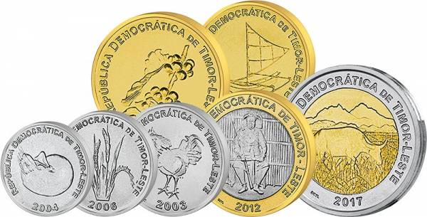 1 -200 Centavos Kursmünzen Osttimor 2003-2017