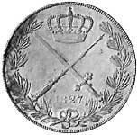 Taler Kronentaler Ernst 1827 vorzüglich