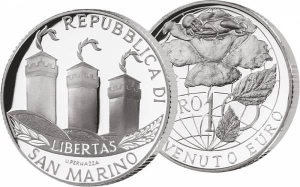 5 + 10 Euro San Marino Willkommen Euro 2002