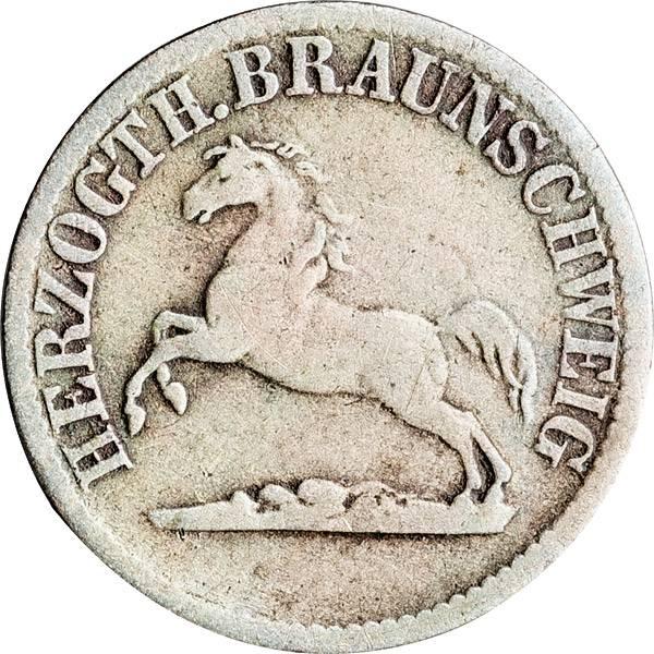 1/2 Groschen Herzogtum Braunschweig Herzog Wilhelm 1858-1860