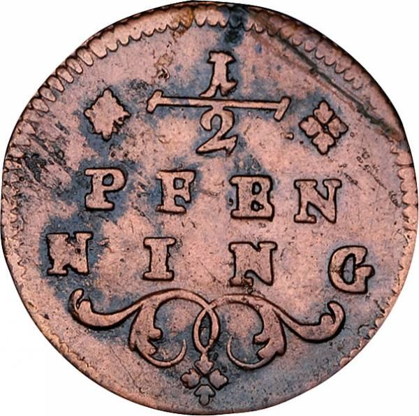 1/2 Pfennig Würzburg Fürstbischof Franz Ludwig