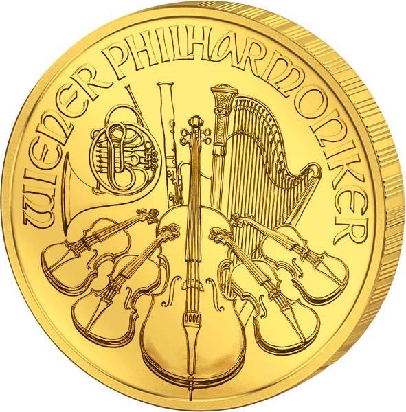 1/25 Unze Gold Österreich Philharmoniker 2018