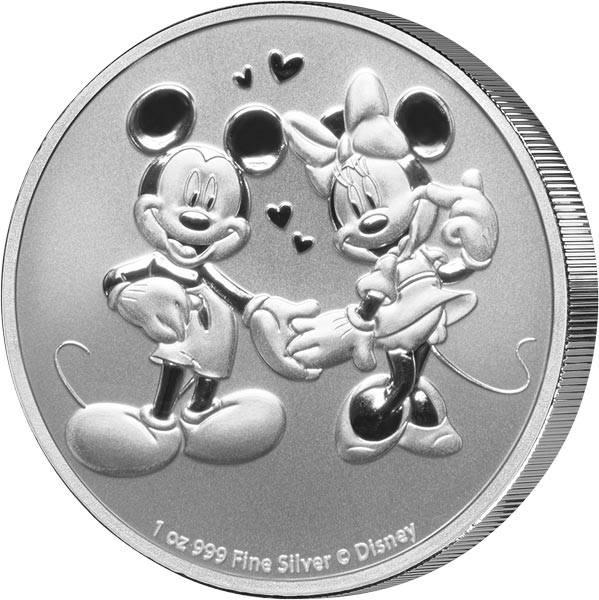 1 Unze Silber Niue Mickey und Minnie 2020