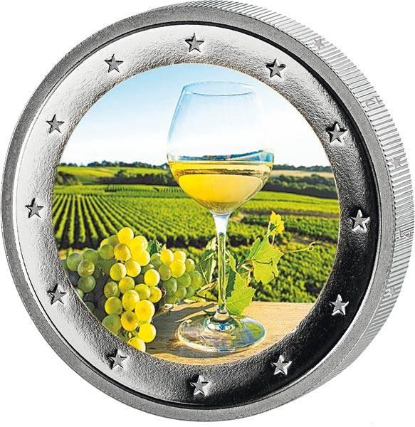 2 Euro BRD mit Farb-Applikation Weinlese 2020