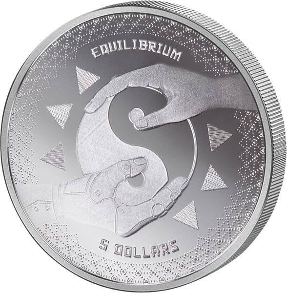 1 Unze Silber Tokelau Equilibrium 2020