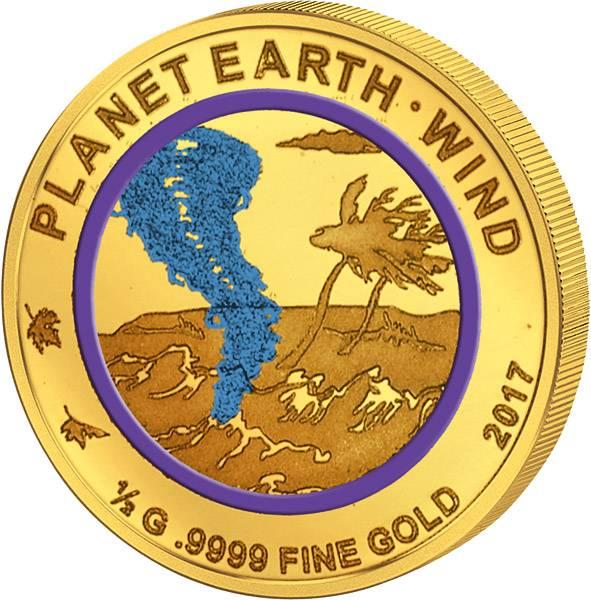 100 Francs Niger Planet Erde Wind 2017