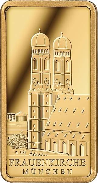 1/100 Unze Goldbarren Frauenkirche München