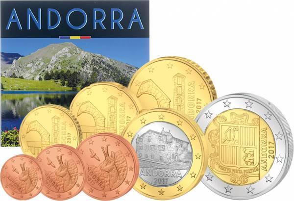 Euro-Kursmünzensatz Andorra 2017