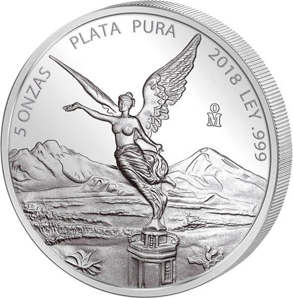 5 Unzen Silber Mexiko Libertad 2018