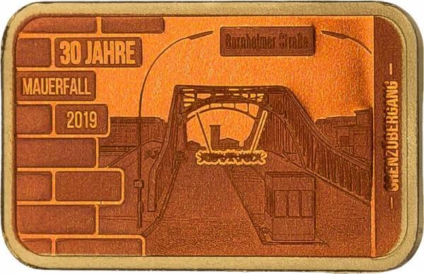 Goldbarren Grenzübergang Bornholmer Straße