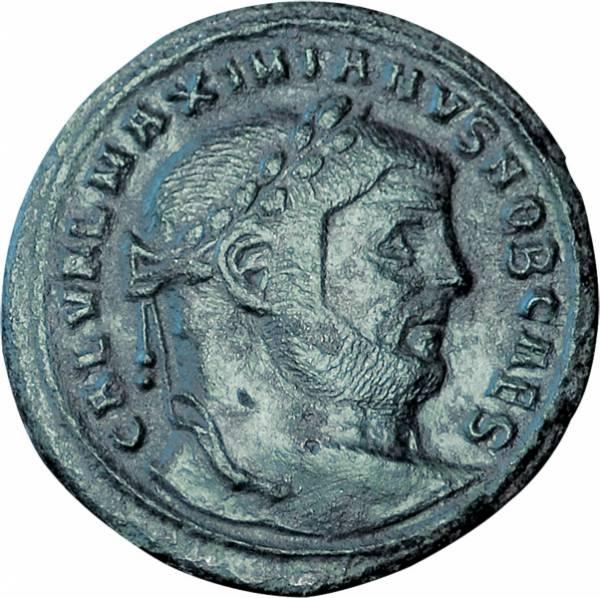 Follis  Rom Kaiser Maximianus Herculius sehr schön