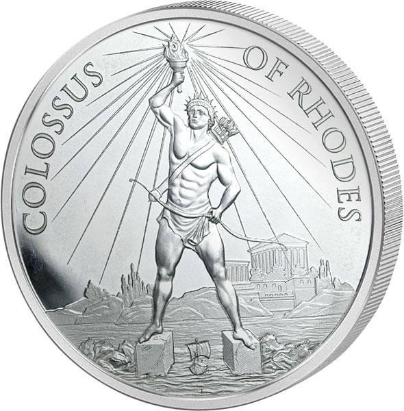 1 Unze Silber Gedenkprägung Koloss von Rhodos