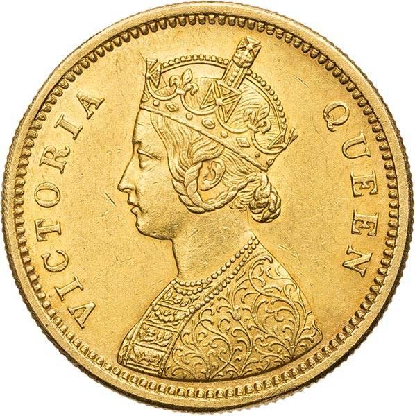 1 Mohur Indien Königin Victoria 1862 + 1870 + 1875