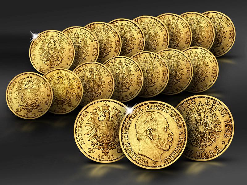 20 Reichsmark Goldmünzen Des Deutschen Kaiserreiches Reppade