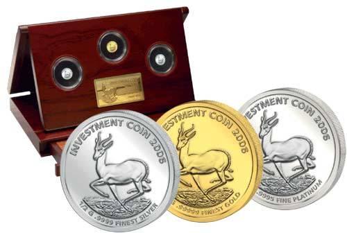 Investment Coin-Set Springbock 2006 Polierte Platte