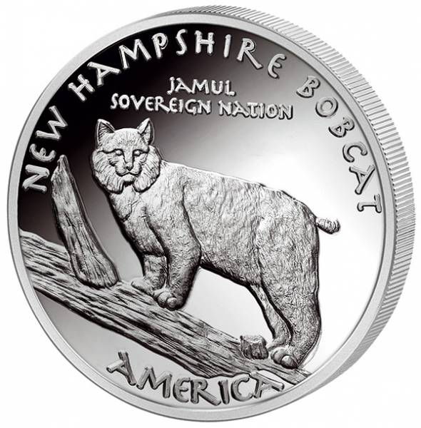 1 Unze Silber USA New Hampshire  Abenaki Rotluchs 2016