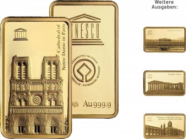 Goldbarren-Kollektion: UNESCO Welterbestätten