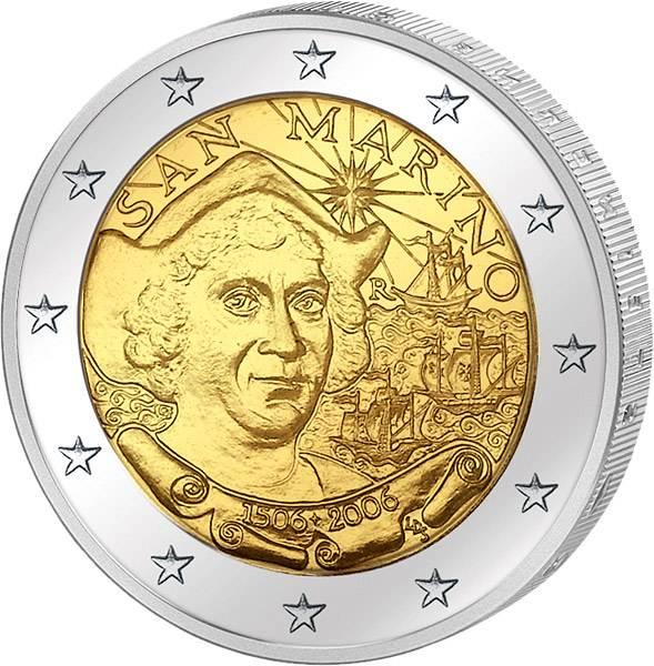 2 Euro San Marino Christoph Columbus 2006