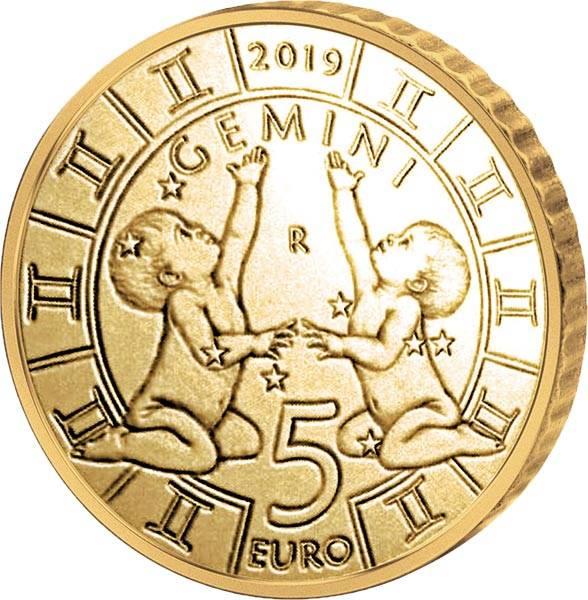5 Euro San Marino Tierkreiszeichen Zwilling 2019