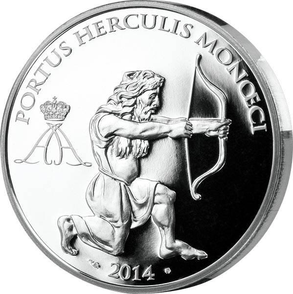 10 Euro Monaco Herkules der Bogenschütze 2014