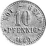 10 Pfennig Braunschweig Niedersachsenroß 1920-1921 Sehr schön