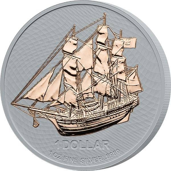 1 Dollar Cook-Inseln Bounty 2020 mit Keramikveredelung