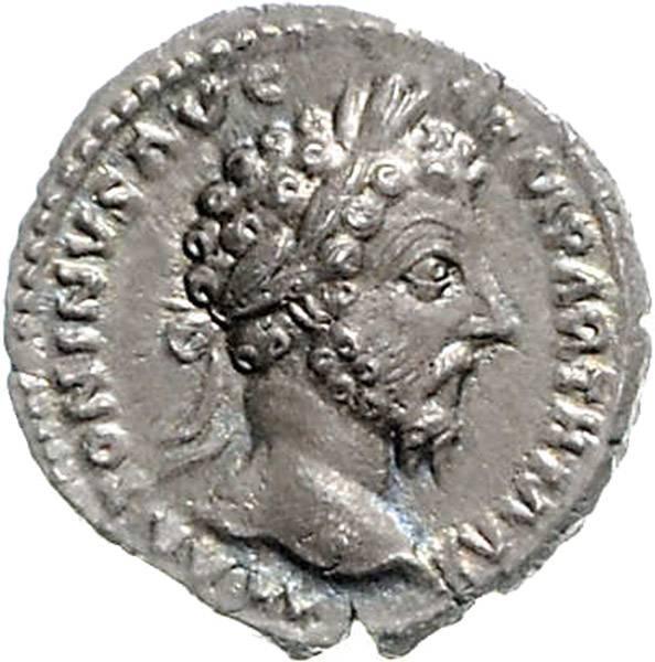Denar Kaiser Marcus Aurelius 161-180n.Ch. Römische Kaiserzeit vorzüglich bis prägefrisch
