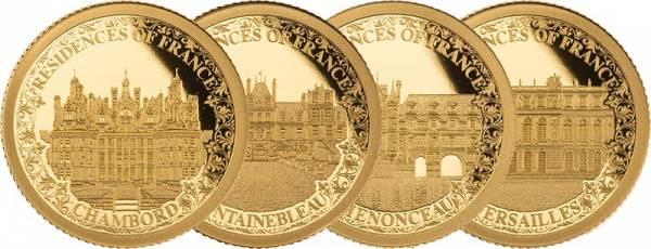 4 x 10 Dollars Salomonen Royal Residences Frankreichs Königliche Schlösser 2021