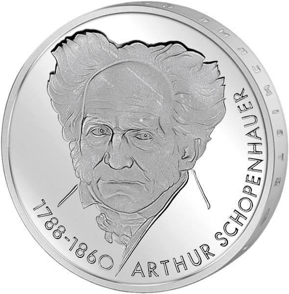 10 DM BRD  Arthur Schopenhauer 1988 D vorzüglich
