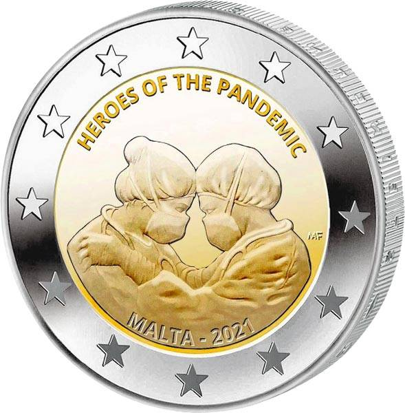 2 Euro Malta CC Helden der Pandemie 2021