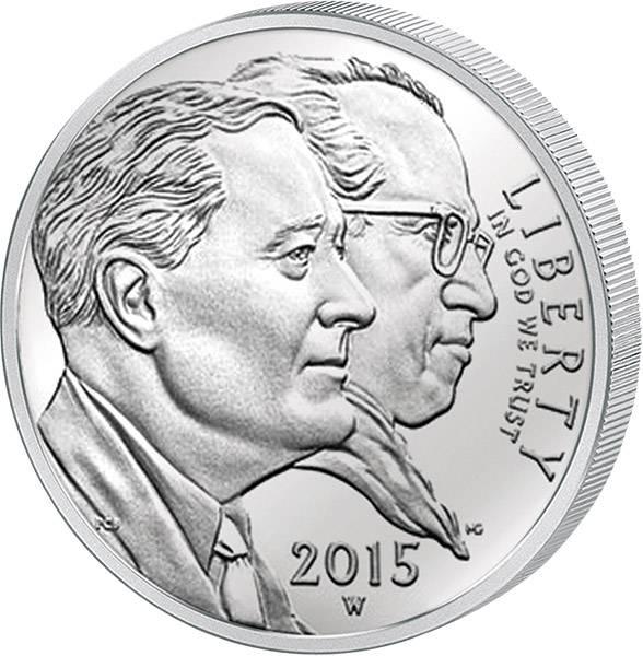 1 Dollar USA Kinderlähmungs-Stiftung 2015 Polierte Platte (PP)