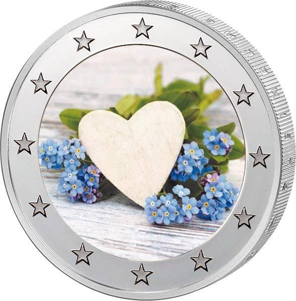 2 Euro BRD mit Farb-Applikation Valentinstag 2020