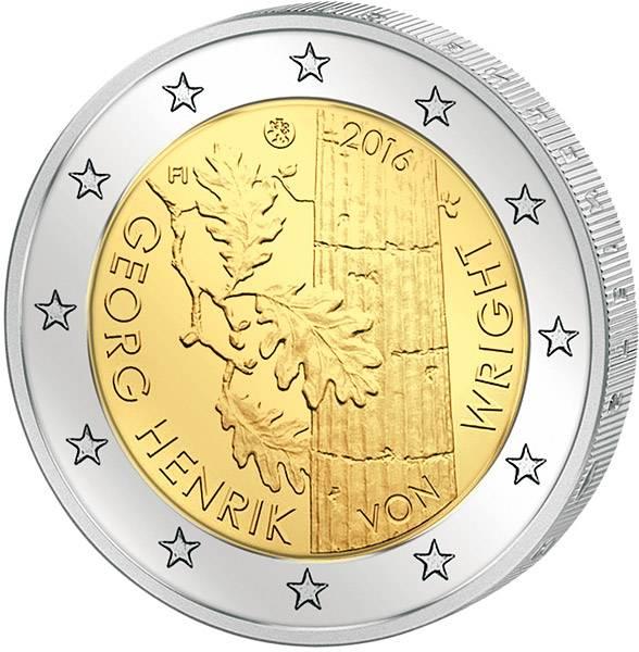 2 Euro Finnland 100. Geburtstag Georg Henrik von Wright
