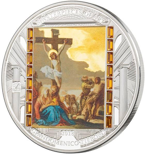 20 Dollars Cook-Inseln Giandomenico Tiepolo - Christi Tod am Kreuz 2018 - FOTOMUSTER