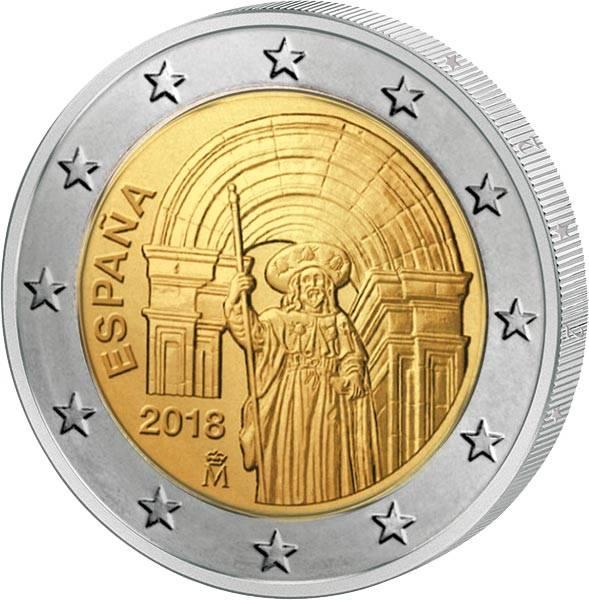 2 Euro Spanien Unesco-Welterbe Altstadt von Santiago de Compostela 2018