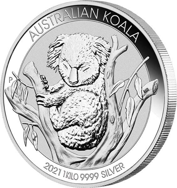 1 Kilo Silber Australien Koala 2021