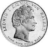 Geschichtstaler Ludwig I. Verlegung der Maximilians-Hochschule 1826  ss-vz