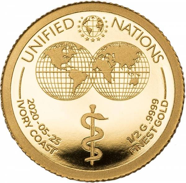 100 Francs Elfenbeinküste Äskulapstab 2020