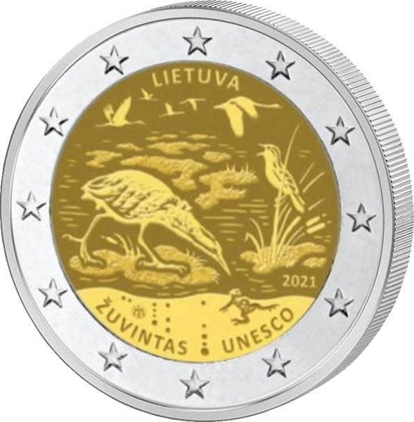 2 Euro Litauen Biosphärenreservart Zuvintas 2021