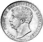 Doppeltaler Silber Carl Fürst zu Hohenzollern 1841-43 ss-vz