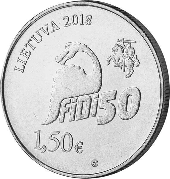 1,5 Euro Litauen 50. Physikertag Universität Vilnius 2018